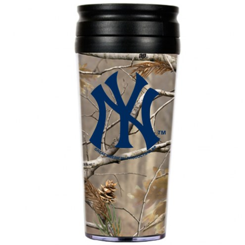 New York Yankees RealTree Camo Coffee Mug Tumbler