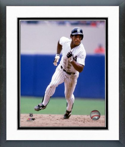 New York Yankees Rickey Henderson 1985 Action Framed Photo