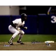 """New York Yankees Rickey Henderson Leading Off Of 2nd Base Signed 16"""" x 20"""" Photo"""