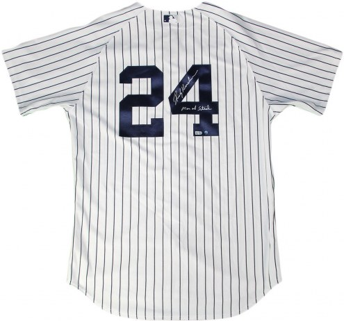 New York Yankees Rickey Henderson Signed #24 Home Pinstripe Authentic Jersey w/ Man of Steel