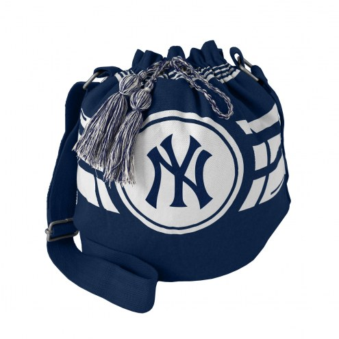 New York Yankees Ripple Drawstring Bucket Bag