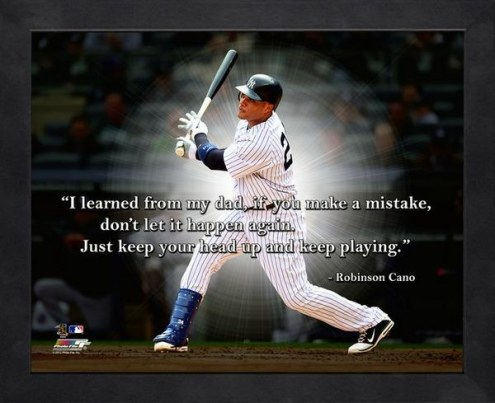 New York Yankees Robinson Cano Framed Pro Quote