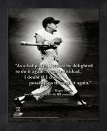 New York Yankees Roger Maris Framed Pro Quote