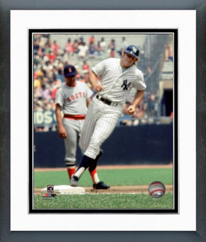 New York Yankees Ron Blomberg 1969 Action Framed Photo