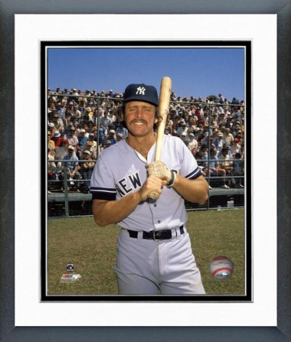 New York Yankees Ron Blomberg posed with bat Framed Photo
