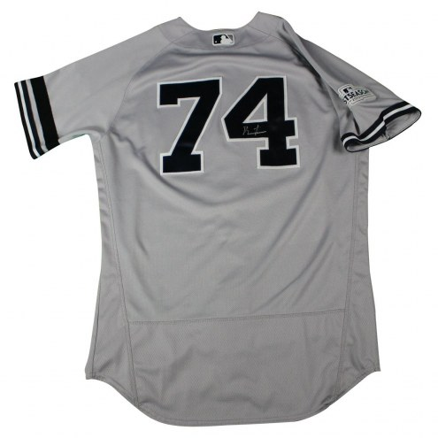 New York Yankees Ronald Torreyes Signed 2017 ALDS Game Used #74 Grey Jersey