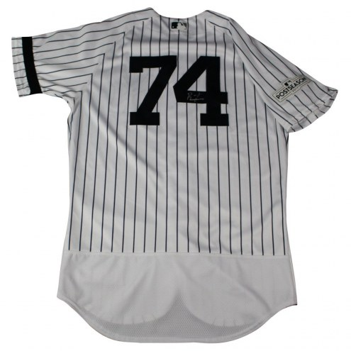 New York Yankees Ronald Torreyes Signed 2017 Game-Issued #74 Home Postseason Jersey