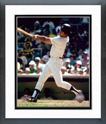 New York Yankees Roy White 1977 Action Framed Photo