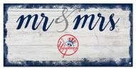 New York Yankees Script Mr. & Mrs. Sign