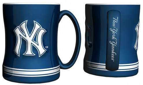 New York Yankees Sculpted Relief Coffee Mug