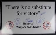 New York Yankees Signed Theres No Substitute For Victory 24 x 36 Replica Sign