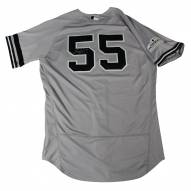 New York Yankees Sonny Gray Signed 2017 ALCS Game Used #55 Grey Jersey 10/13-10/21/17