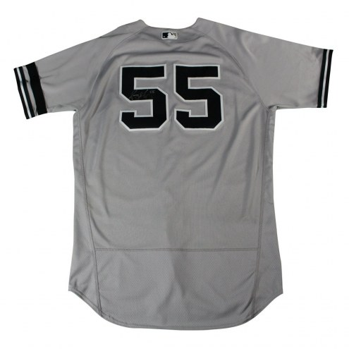 New York Yankees Sonny Gray Signed 2017 Game-Used #55 Grey Jersey (9/23/2017)