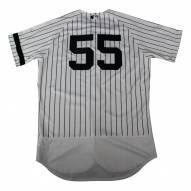 New York Yankees Sonny Gray Signed Game Issued #55 Pinstripe Jersey (10/1/2017)
