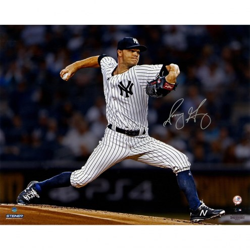 New York Yankees Sonny Gray Signed Pitching 16 x 20 Photo