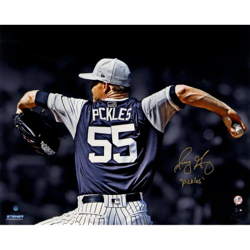 New York Yankees Sonny Gray Signed Players Weekend 16 x 20 Metallic Photo w/ Pickles
