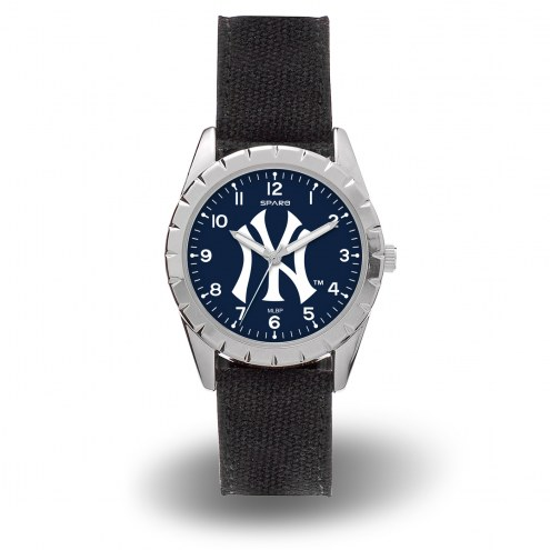 New York Yankees Sparo Men's Nickel Watch