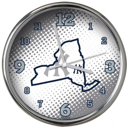 New York Yankees State of Mind Chrome Clock