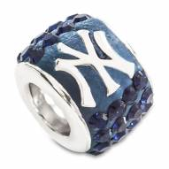 New York Yankees Sterling Silver Charm Bead