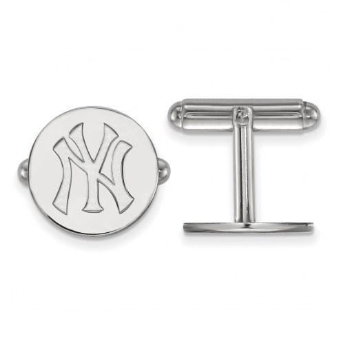 New York Yankees Sterling Silver Cuff Links