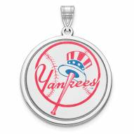 New York Yankees Sterling Silver Disc Pendant