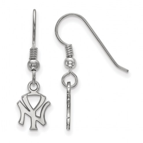 New York Yankees Sterling Silver Extra Small Dangle Earrings