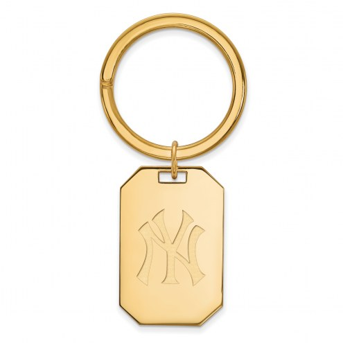 New York Yankees Sterling Silver Gold Plated Key Chain