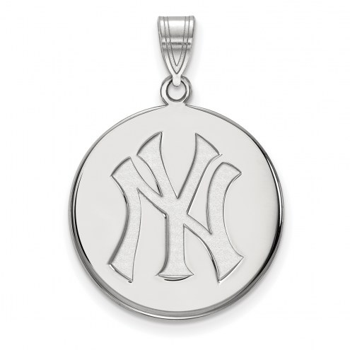 New York Yankees Sterling Silver Large Disc Pendant