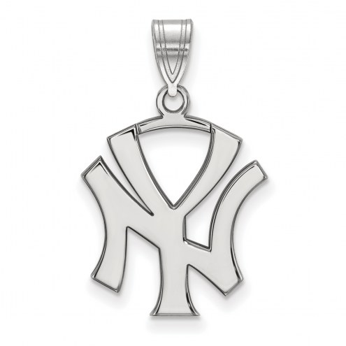 New York Yankees Sterling Silver Large Pendant