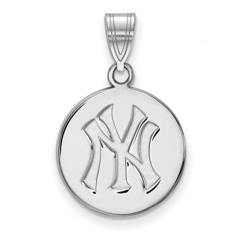 New York Yankees Sterling Silver Medium Disc Pendant