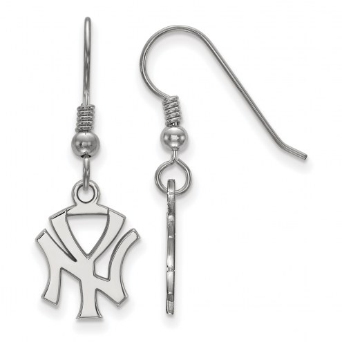 New York Yankees Sterling Silver Small Dangle Earrings