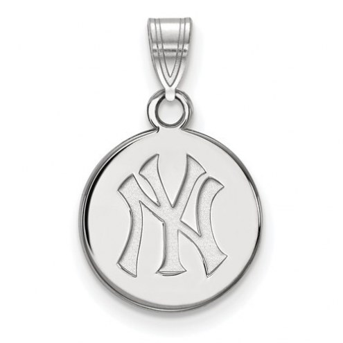 New York Yankees Sterling Silver Small Disc Pendant
