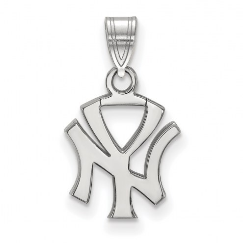 New York Yankees Sterling Silver Small Pendant