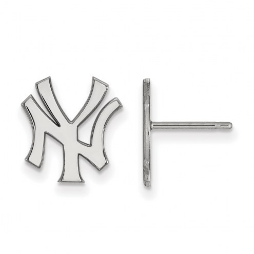 New York Yankees Sterling Silver Small Post Earrings