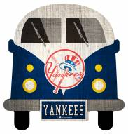 New York Yankees Team Bus Sign