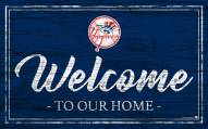 New York Yankees Team Color Welcome Sign