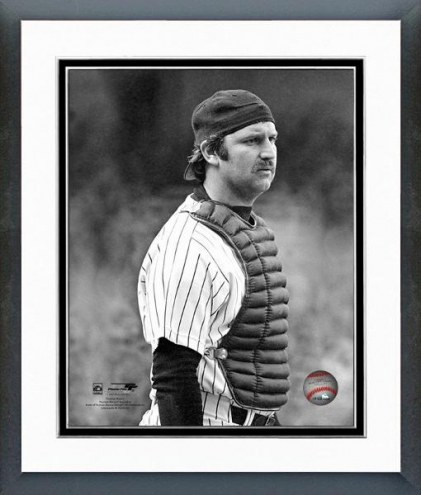New York Yankees Thurman Munson 1978 Catching Action Framed Photo