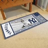 New York Yankees Ticket Runner Rug