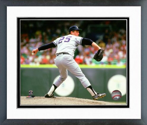 New York Yankees Tommy John 1987 Pitching Action Framed Photo