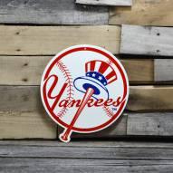 "New York Yankees Top Hat 12"" Steel Logo Sign"