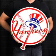 "New York Yankees Top Hat 24"" Steel Logo Sign"