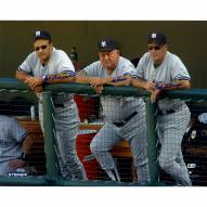 """New York Yankees Torre, Zimmer, Stottlemyre On Dugout Steps (Signed in Blue) Signed 16"""" x 20"""" Photo"""