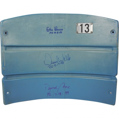 New York Yankees David Cone David Wells & Don Larsen Triple Signed Authentic Seatback from The Original Yankee Stadium