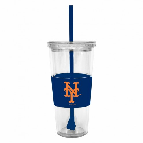 New York Mets Tumbler with Straw