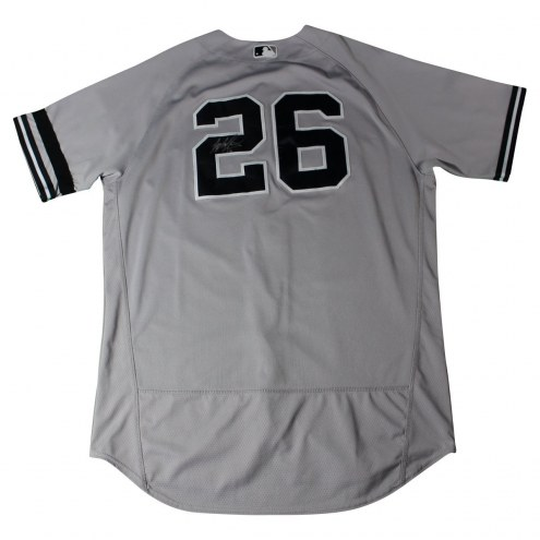 New York Yankees Tyler Austin Signed 2017 Game-Used #26 Grey Jersey (9/24/2017)
