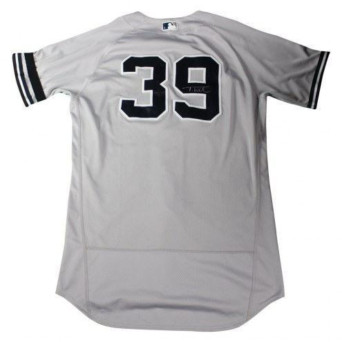 New York Yankees Tyler Wade Signed 2017 Game-Used #39 Grey Jersey (9/24/2017)