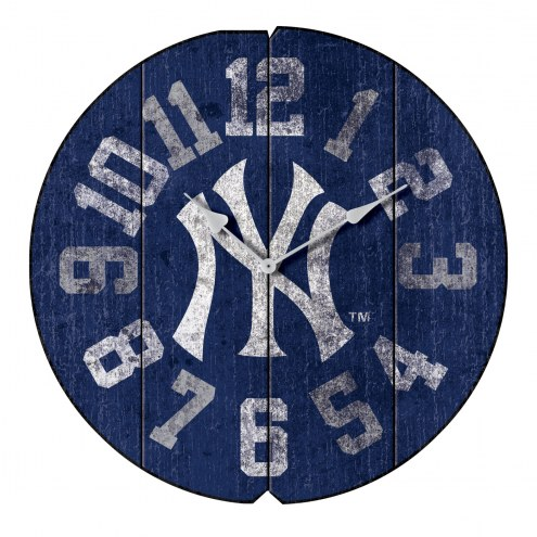 New York Yankees Vintage Round Clock