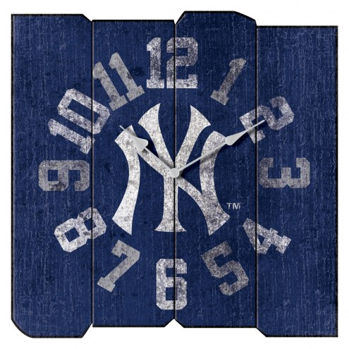 New York Yankees Vintage Square Clock