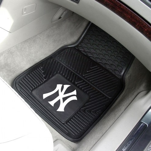 New York Yankees Vinyl 2-Piece Car Floor Mats