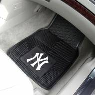 New York Yankees Vinyl 2-Piece Car Floor Mats
